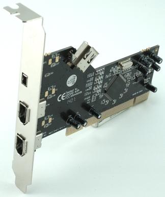 כרטיס הרחבה לעריכה לכידה Gold Touch SU-PCI-3PFW PCI Card 3 Port Fire Wire 1394a