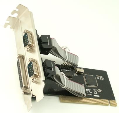 כרטיס הרחבה סיריאלי 2 פורטים ופרלל Gold Touch SU-PCI-2RS-1P PCI Card 2 Ports Serial RS232