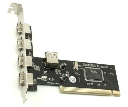 כרטיס הרחבה פנימי למחשבים ישנים Gold Touch SU-PCI-4USB PCI Card 4Ports 1Port Internal USB2.0