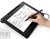 לוח לחתימה דיגיטלית וואקום לחתימה במסמכי Wacom Signature Set DTU-1141 & Sign Pro PDF
