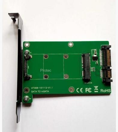 כרטיס הרחבה פנימי לכרטיסי פלאש Protec DM008A Sata to 3kind MSATA Card