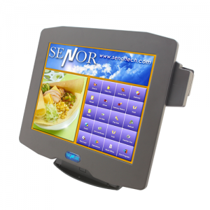 קופה רושמת ממוחשבת מסך מגע קורא כרטיסי אשראי Senor iSPOS 255 Monitor Intel D2550 Dual Core 1.8Ghz 15'' Touch TFT LCD 2GB RAM 320GB HDD