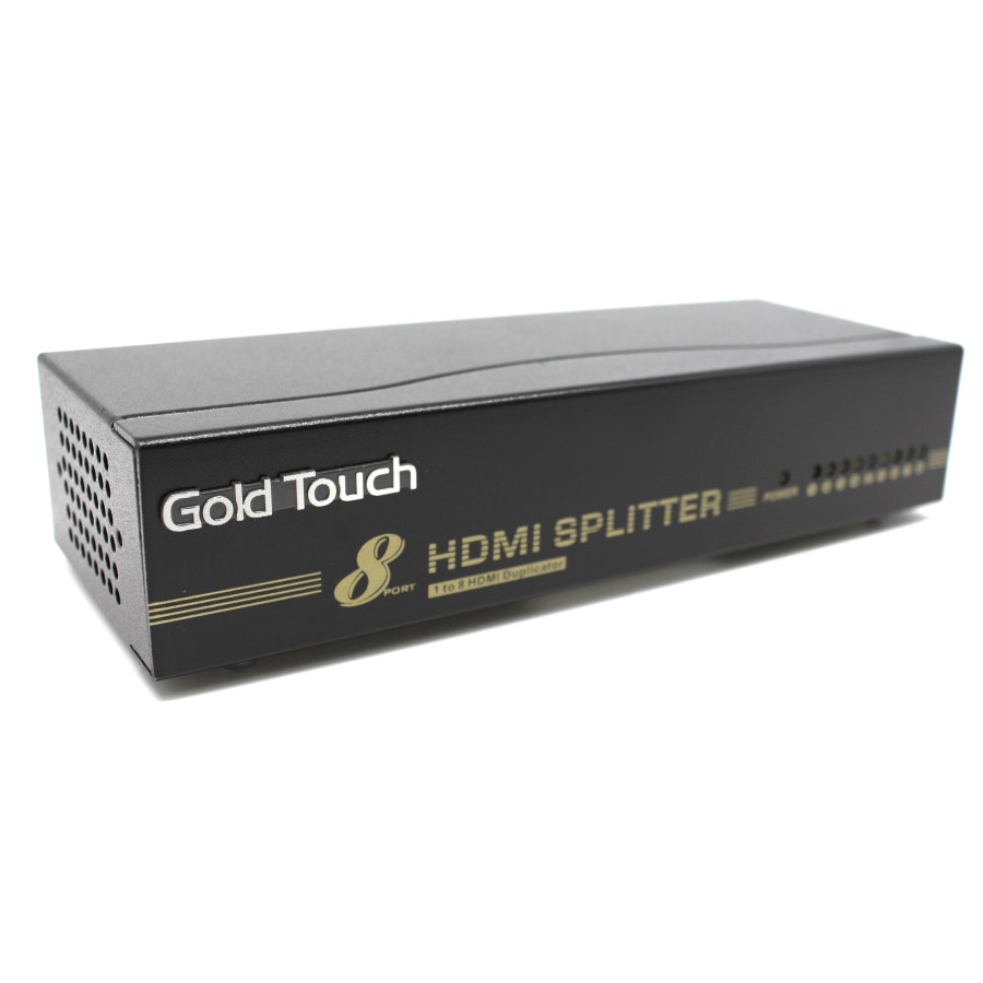 מפצל ספליטר מסך רכזת Gold Touch HDMI-S8 1 TO 8 Port HDMI Splitter