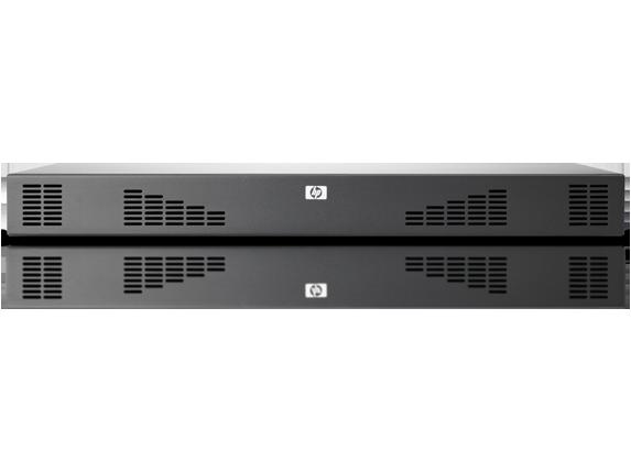 מתג לא מנוהל 32 ערוצים HP 1x1Ex8 KVM IP Console Switch G2 with Virtual Media CAC Software