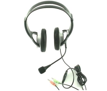 אוזניות למחשב ומיקרופון בקרת ווליום גולד טאצ שחור Gold Touch HYG-800 PL 3.5mm Black