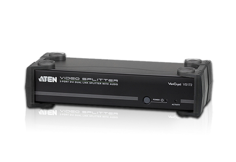 ספליטר/מפצל מסכים Aten VS172 2-Port DVI Dual Link Splitter with Audio