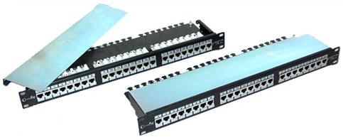 פאנל מסוכך מלא LUGGAR HP-PP6A-24 Patch Panel - 24 RJ-45 Cat 6A STP With Connectors