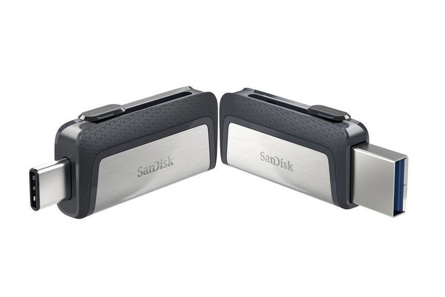 מתאם מעביר בקלות בין מכשירים ומחשבים SanDisk Ultra 128GB Dual Drive USB Type-C Flash Drive