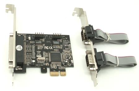 כרטיס הרחבה סיריאלי ST Lab i-360 PCIE PCI-E 2S SERIAL CARD