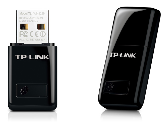 כרטיס רשת אלחוטי מיני 2 אנטנות פנימיות TP-Link TL-WN823N N-MAX 300Mbps 2T2R USB