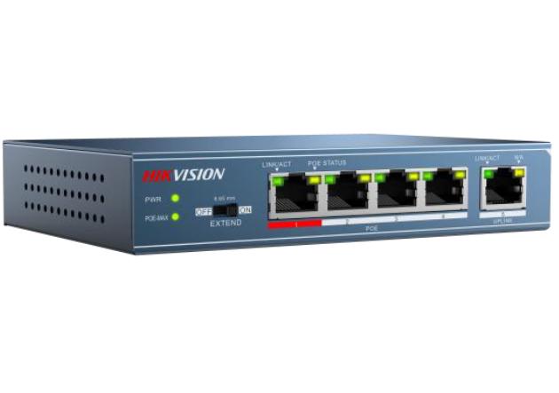 מתג שולחני היקוויז'ן Hikvision DS-3E0105P-E 5ports 100Mbps Unmanaged PoE Switch