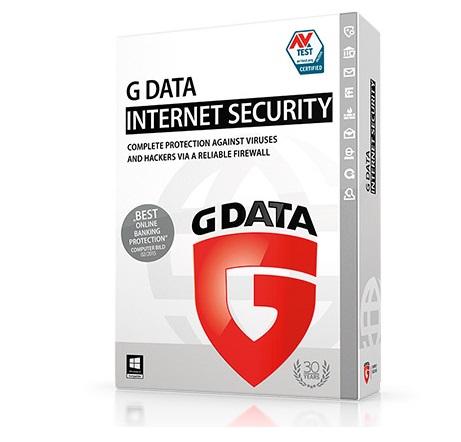 תוכנת אבטחה למחשב ולאינטרנט ל 5 מחשבים לשנה אחת G-DATA Internet Security 5pc