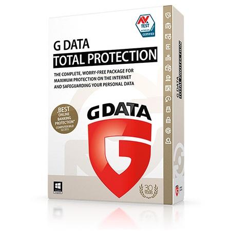 תוכנת אנטי וירוס המקיפה ביותר ל 3 מחשבים שנה אחת G-DATA Antivirus Total Protection 3pc