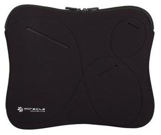 מעטפת שחורה יוקרתית הכוללת כיסים לאיחסון למחשב נייד או טאבלט Miracase NB-076D 11.6'' Black