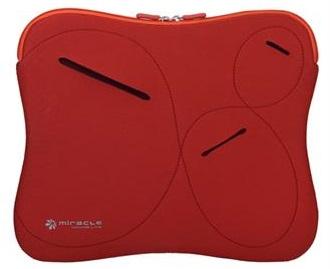 מעטפת שחורה יוקרתית הכוללת כיסים לאיחסון למחשב נייד או טאבלט Miracase NB-076D 11.6'' Red