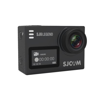 מצלמת אקסטרים מסך מגע קומפקטית אלחוטית שחור SJCOM SJ6 Camera Extreme 2.0'' Touch 16MP 4K Black