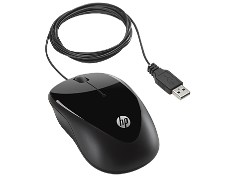 עכבר אופטי חוטי HP X1000 H2C21AA USB Mouse Black