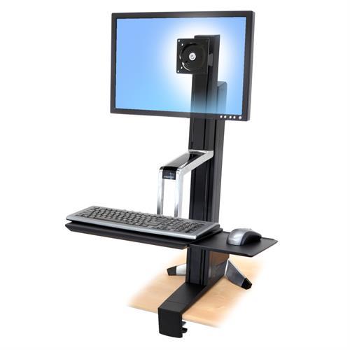 עמדת עבודה ארונומית נצמדת לשולחן Ergotron WorkFit-S E-33-344-200 Sit-Stand Workstation