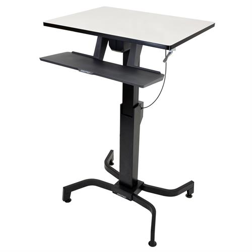 מעמד שולחני נייד למחשב נייד,מקלדת ועכבר אפור ארגוטרון Ergotron E-24-280-926 WorkFit-PD Sit Stand Desk Light Grey
