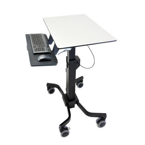 שולחן ישיבה עמידה למחשב נייד עמדת עבודה ניידת ארגוטרון Ergotron E-24-220-055 TeachWell Mobile Digital Workspace Teaching Desk & AV Hub WorkStation