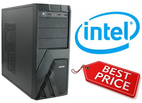 מחשב נייח מעבד אינטל דור 7 Gigabyte GA-H110M-S2H Intel Dual Core i3-7100 3.9GHz SSD 240GB 4GB DDR4 HDMI