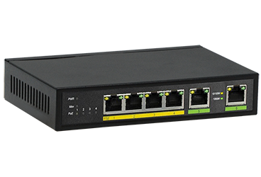 מתג שולחני ג'יגהביט פרוויז'ן Provision PoES-0460G+2G 4+2-Port Giga 10/100/1000Mbps PoE 4+2 Switch