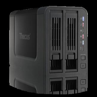 שרת אחסון קבצים 2 מפרציםThecus N2310AMCC APM 86491 800Mhz 512MB 2xSata