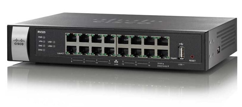 נתב קווי סיסקו Cisco RV325-K9-G5 Dual Gigabit WAN VPN Router