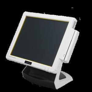 קופה רושמת ממוחשבת מסך מגע וצג לקוח VFD קורא כרטיסי אשראי OKPOS Z-1500 15'' Touch Monitor Intel Dual Core J1900 2.42GHz 2GB RAM 64GB SSD Win7
