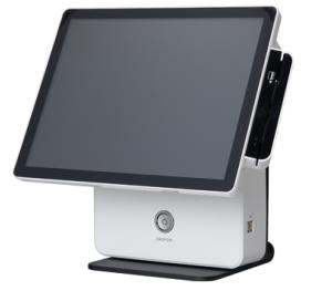 קופה רושמת ממוחשבת מסך מגע קורא כרטיסי אשראי OKPOS K-9000 15'' Touch Monitor Intel Dual Core J1900 2.42GHz 2GB RAM 64GB SSD Win7