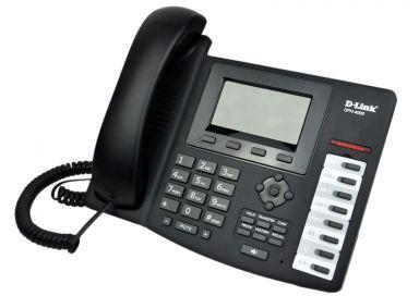 טלפון מנהלים דילינק D-Link DPH-400S VOIP SIP Premium Phone, support 4 x accounts, PPPoE, DHCP, QOS, 128x64 LCD Display