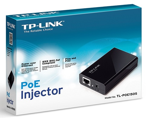 מתאם POE מזרק מתח העברת מתח על כבל רשת TP-Link TL-POE150S 15.4Watt PoE Injector Max 48VOC