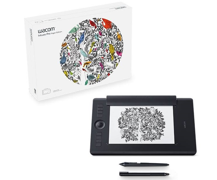 לוח כתיבה אלקטרוני לאמנים ומעצבים וואקום Wacom PTH-860P-N Intuos Pro Paper Large