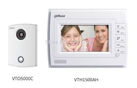 מערכת אינטרקום כולל מסך כולל מצלמה כולל אפליקציה DahuaVTKB-VTO5000C-VTH1500AH
