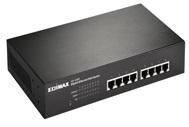 מתג שולחני ארון תקשורת אדימקס Edimax GS-1008PL 8-port Gigabit Ethernet PoE+ 80Watt Switch