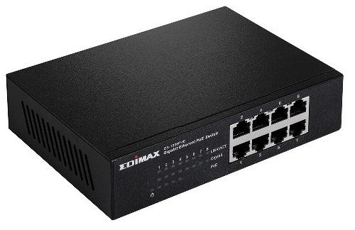 מתג שולחני אדימקס Edimax GS-1008PHE 8-port Gigabit Ethernet 4PoE+ 48Watt Switch
