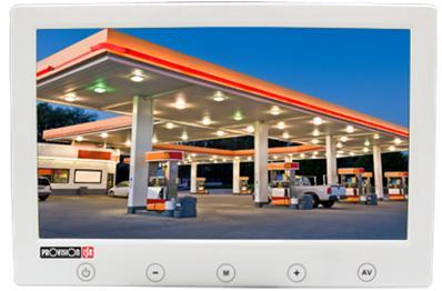 מוניטור מסך דק אנאלוגי עם כפתורי מגע Provision PR-IPS10P-W 10'' TFT LCD AV/2 VGA HDMI