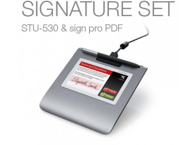 לוח לחתימה דיגיטלית וואקום Wacom Signature Set STU-530 & Sign Pro Signature Set PDF