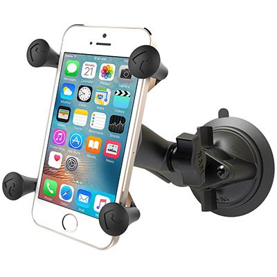 תושבת מתכווננת למיתקון סמארטפון ברכב Ram Mounts Twist-Lock™ Suction Cup Mount with Universal X-Grip® Cell/iPhone Cradle