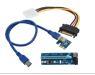רייזר למיינינג  Foxconn Riser For Mining PCIe x1 to x16 Powered Extender Riser - Uses 60cm USB 3.0 Cable