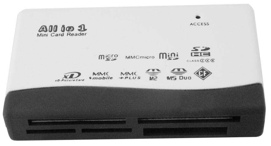 קורא כרטיסים חכמים Gold Touch E-USB-CR USB2.0 All in One Card Reader