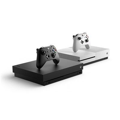 קונסולת משחקים אקסבוקס כולל בקר אלחוטי מקור+בקר אלחוטי נוסף+משחק Microsoft Xbox One X Custom CPU @ 2.3 GHz, 8 cores 12GB GDDR5 1TB 4K+Fifa 2018