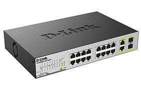 מתג 16 ערוצים Dlink des-1018mp Gigabit 10/100Mbps Smart PoE Switch