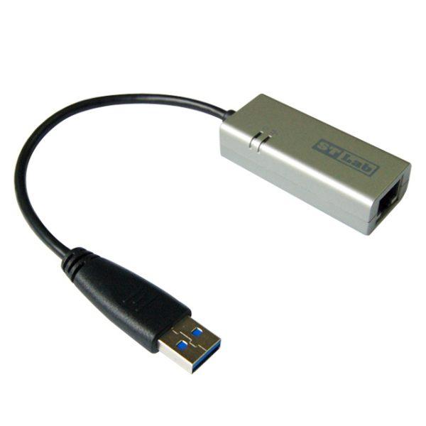 כרטיס רשת חיצוני ST Lab U-980 USB 3.0 To GIGABIT Ethernet Adaptor