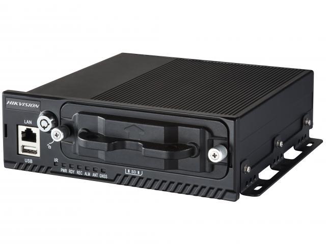 מערכת הקלטה לרכב היקוויז'ן עצמאית ל 4 מצלמות ללא דיסקים Hikvision DS-M5504HNI/GLF/WI MOBILE IP Full HD NVR POE Pluggable,4G (WCDMA)/GPS/WIFI