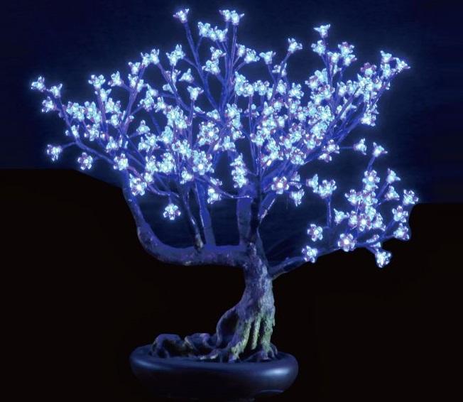 תאורת לד דמוי עץ דובדבנים DivoLight LED Tree Bonsai Cherry Blossom 0.8M White