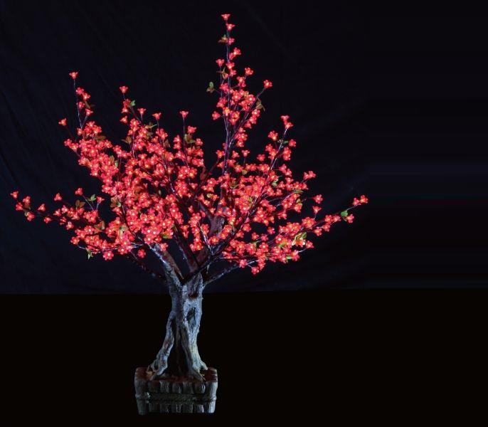 תאורת לד דמוי עץ דובדבנים DivoLight LED Tree Bonsai Cherry Blossom 1.5M Red