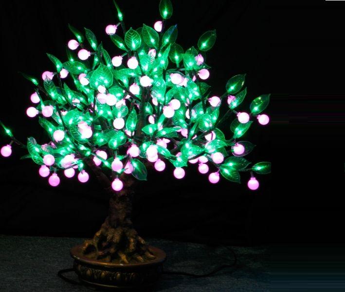 תאורת לד דמוי עץ בונסאי DivoLight LED Tree Bonsai Pearl 0.7M Purple Green