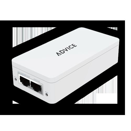 מתג אדוויס מנוהל גיגה 2 פורטים ADVICE ADV-INJ30G 2-port 10/100/1000Mbps Managed Switch