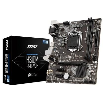 לוח אם דור 8 MSI H310M PRO-VDH VGA/ DVI/ HDMI Chipset Socket 1151 DDR4